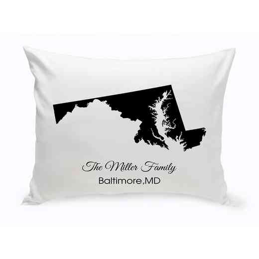 GC1380-MD: Blk Prsnlzed Home St.ThrowPillowMaryland