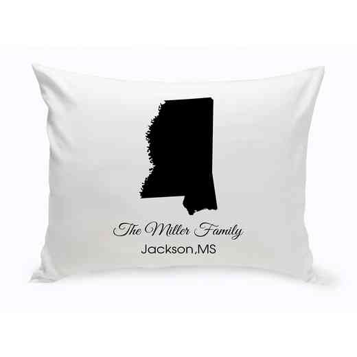 GC1380-MS: Blk Prsnlzed HomeStThrowPillowMississipp