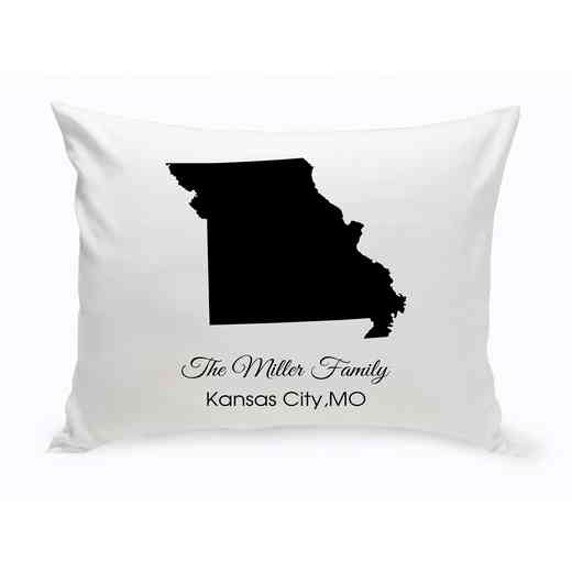 GC1380-MO: Blk Prsnlzed Home St.ThrowPillowMissouri