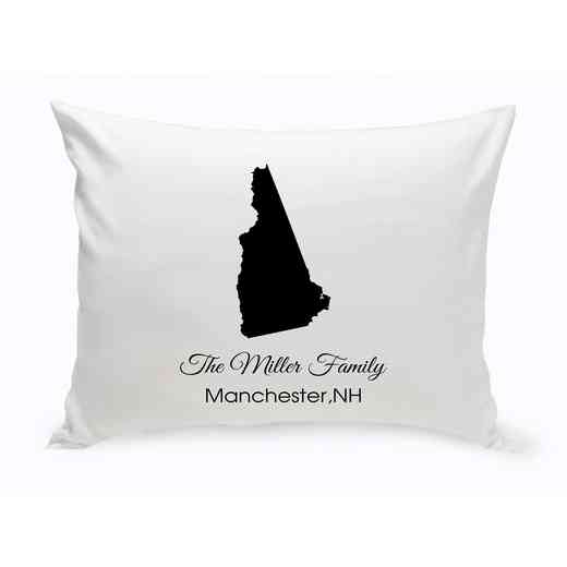 GC1380-NH: Blk Prsnlzed HomeStThrowPillowNHampshire