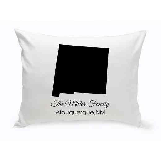 GC1380-NM: Blk Prsnlzed Home StThrowPillowNewMexico