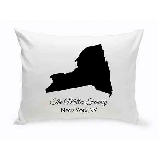 GC1380-NY: Blk Prsnlzed Home St.ThrowPillow NewYork