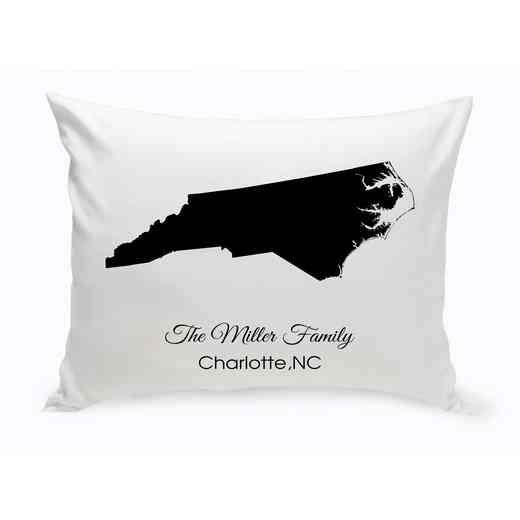 GC1380-NC: Blk Prsnlzed Home StThrowPillowNCarolina