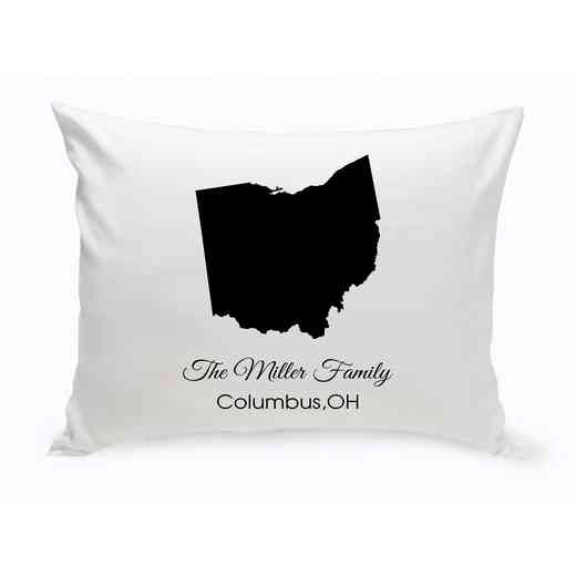 GC1380-OH: Blk Prsnlzed Home St.ThrowPillow Ohio