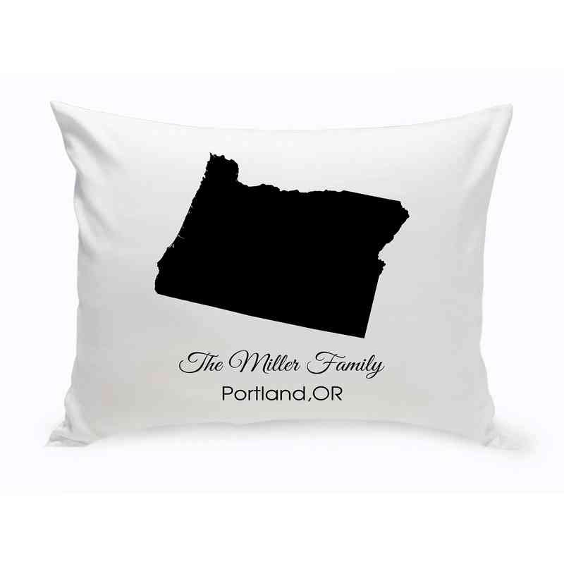 GC1380-OR: Blk Prsnlzed Home St.ThrowPillow Oregon
