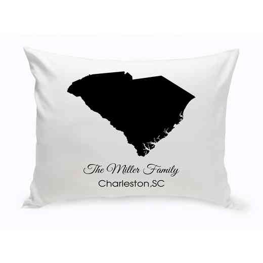 GC1380-SC: Blk Prsnlzed Home StThrowPillowSCarolina