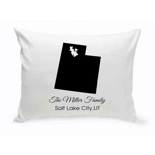 GC1380-UT: Blk Prsnlzed Home St.ThrowPillow Utah