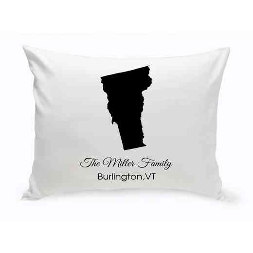 GC1380-VT: Blk Prsnlzed Home St.ThrowPillow Vermont
