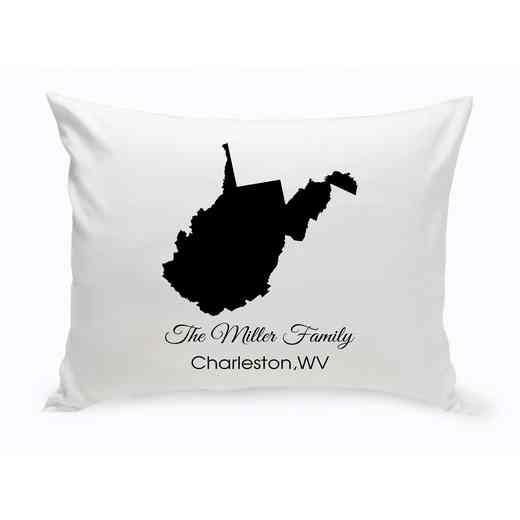 GC1380-WV: Blk Prsnlzed Home StThrowPillowWVirginia