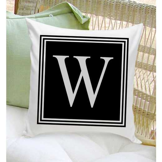 GC1260 MODERN: Personalized Initial ThrowPillow Modern