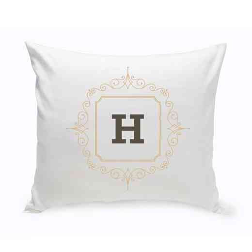 GC1471 SAND: Personalized Initial Motif ThrowPillow