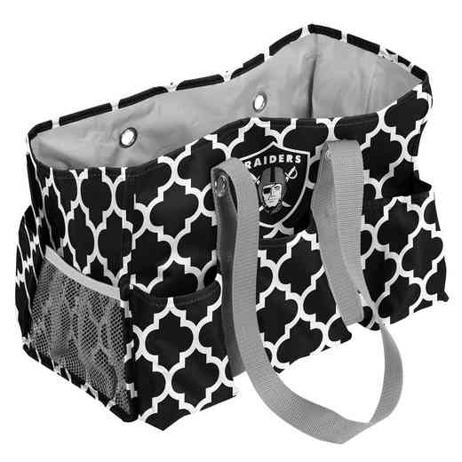 623-865QF: Oakland Raiders Quatrefoil Jr Caddy