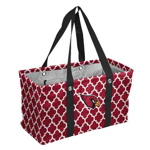 601-765QF: Arizona Cardinals Quatrefoil Picnic Caddy