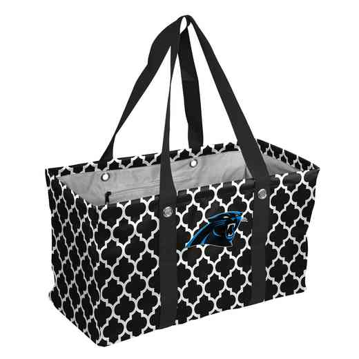 605-765QF: Carolina Panthers Quatrefoil Picnic Caddy