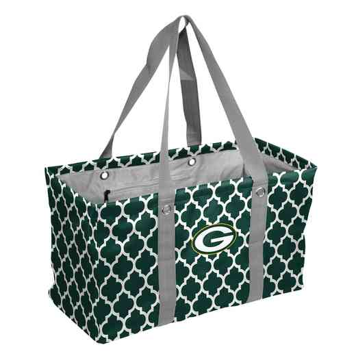 612-765QF: Green Bay Packers Quatrefoil Picnic Caddy