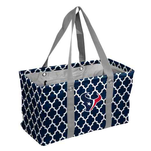 613-765QF: Houston Texans Quatrefoil Picnic Caddy