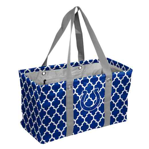 614-765QF: Indianapolis Colts Quatrefoil Picnic Caddy