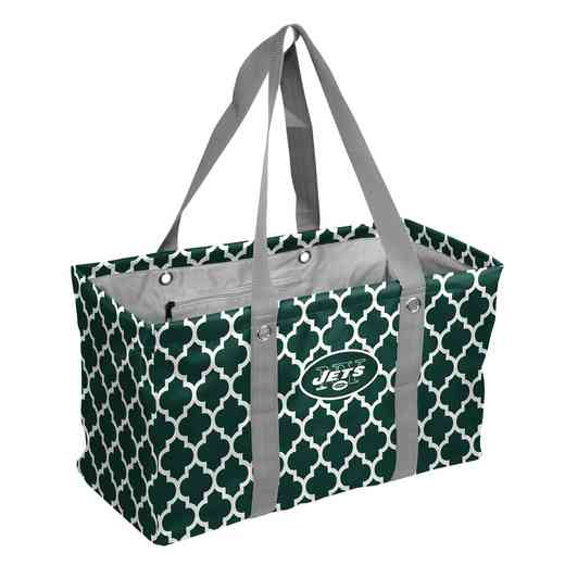 622-765QF: New York Jets Quatrefoil Picnic Caddy