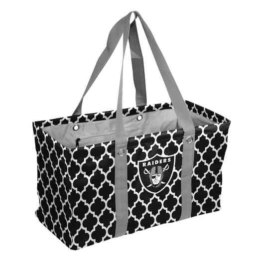 623-765QF: Oakland Raiders Quatrefoil Picnic Caddy