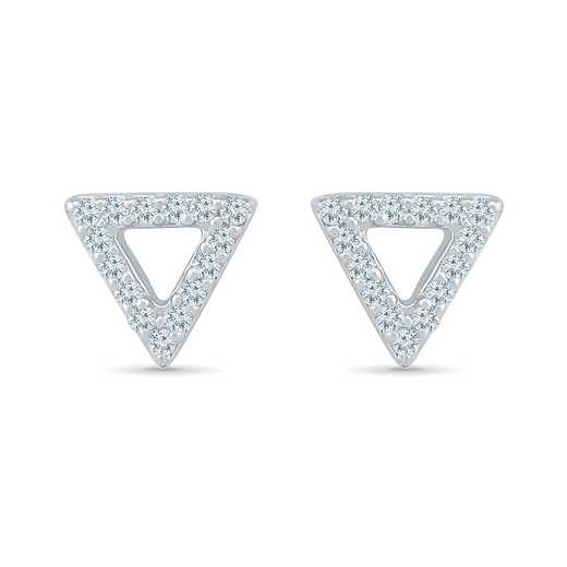 EF200664CAW: 925 1/6CTTW DIA TRIANGLE SHAPE EARRINGS