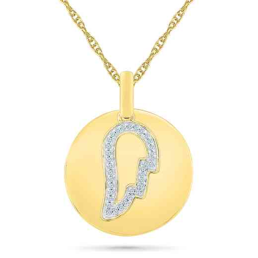 PQ079652BAY: 925/14KYGP 1/10CTTW DIA ANGEL WING NECKLACE