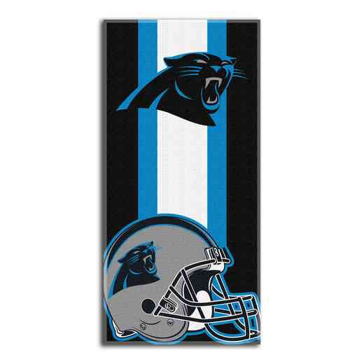 1NFL720000018RET: NFL 720 Panthers Zone Read Beach Towel