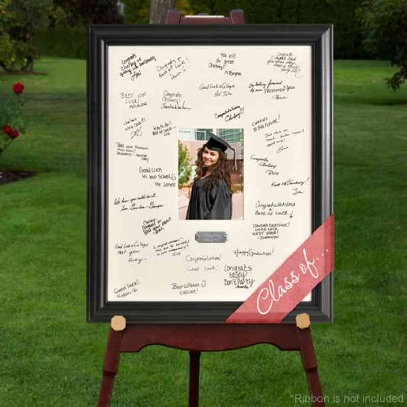 personalized graduation day signature frame