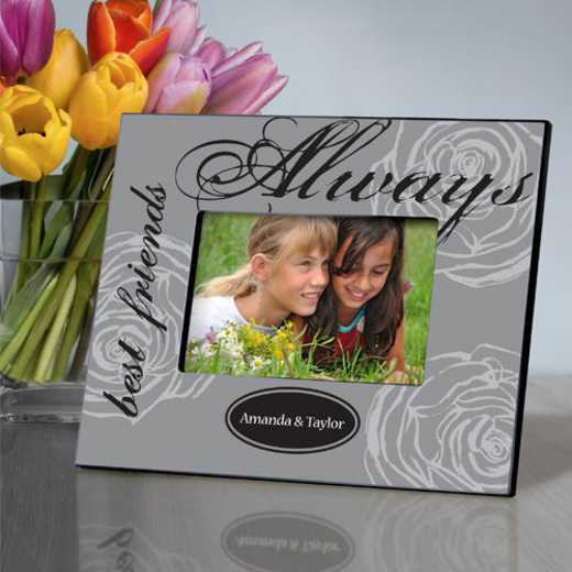 GC858 ALWAYSGRAY: Personalized Forever Friends Friendship Frame