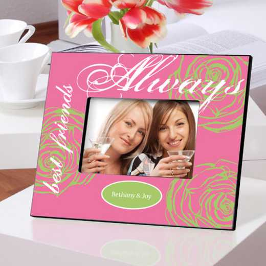 GC858 ALWAYSPINK: Personalized Forever Friends Friendship Frame