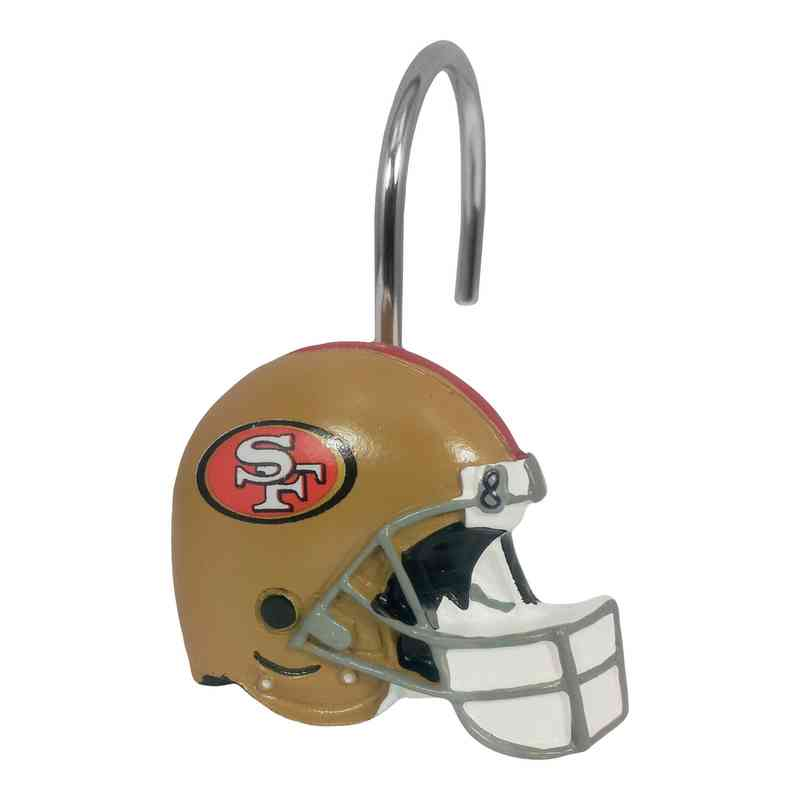 1NFL942003013WMT NFL 942 49ers Shower Curtain Rings