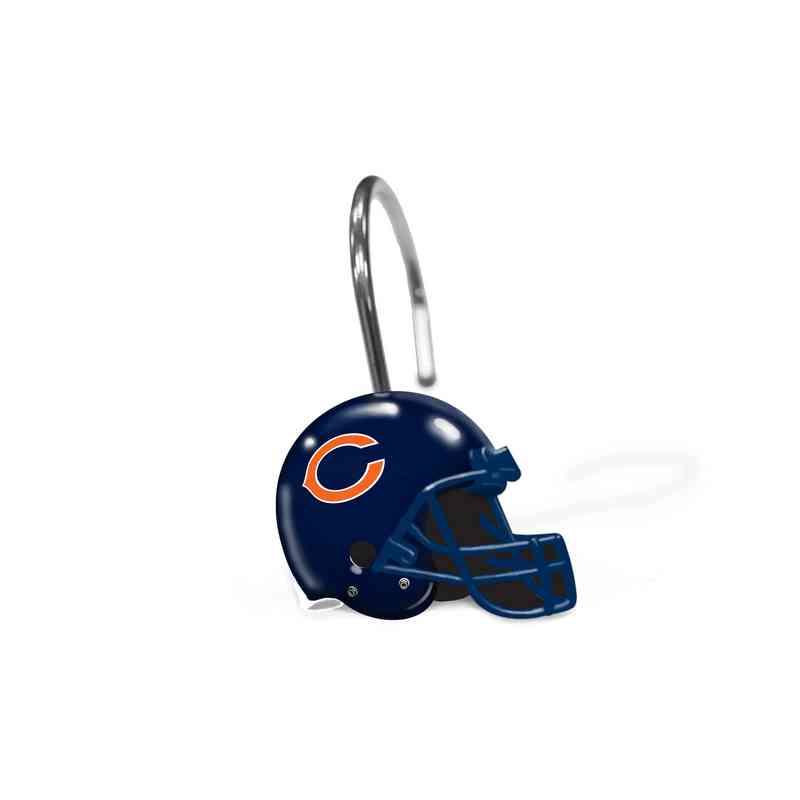 1NFL942000001RET NFL 942 Bears Shower Curtain Rings