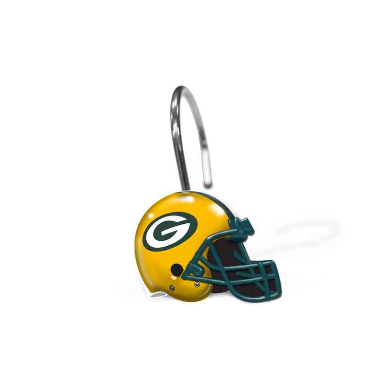 1NFL942000017RET NFL 942 Packers Shower Curtain Rings