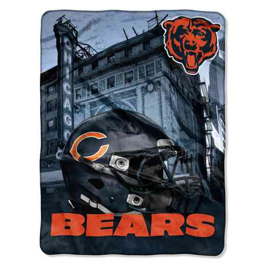 1NFL071030001RET: NW NFL HERITAGE SILK THROW, BEARS