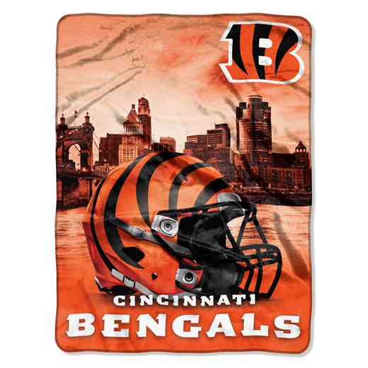 1NFL071030002RET: NW NFL HERITAGE SILK THROW, BENGALS