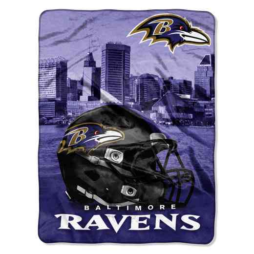 1NFL071030077RET: NW NFL HERITAGE SILK THROW, RAVENS