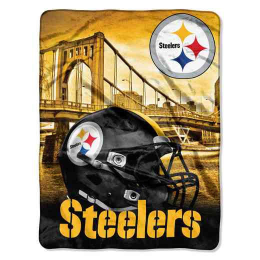1NFL071030078RET: NW NFL HERITAGE SILK THROW, STEELERS