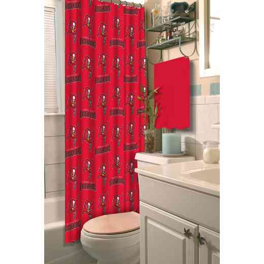 1NFL903003006WMT: NFL 903 Bucs Shower Curtain