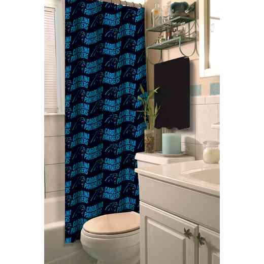1NFL903000018RET: NFL 903 Panthers Shower Curtain