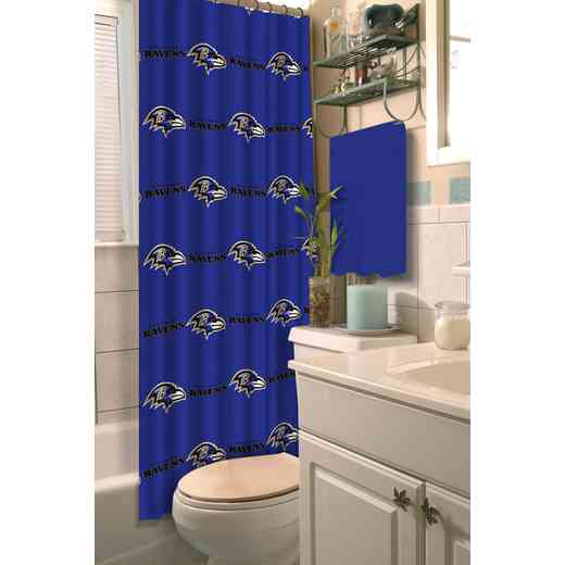1NFL903000077RET: NFL 903 Ravens Shower Curtain