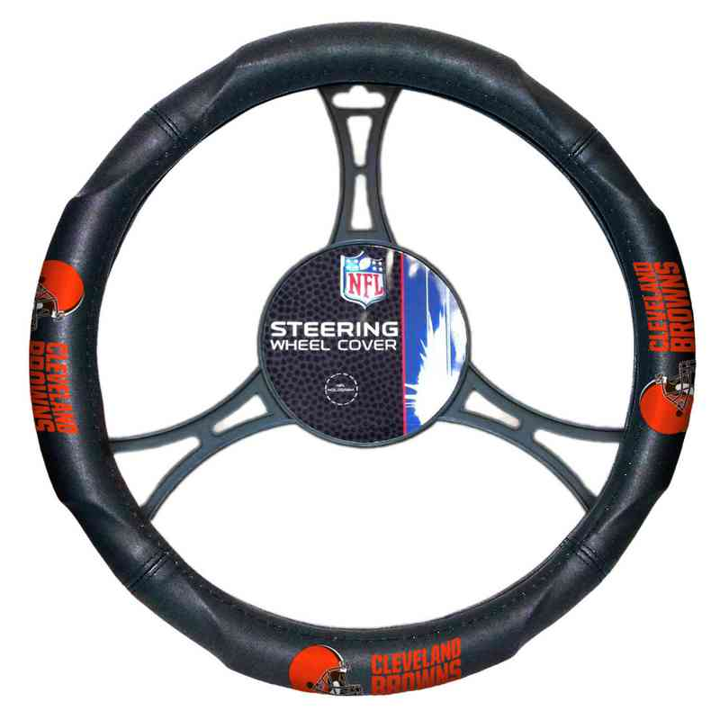1NFL605000005RET: NW CAR STEERING WHEEL COVER, BROWNS