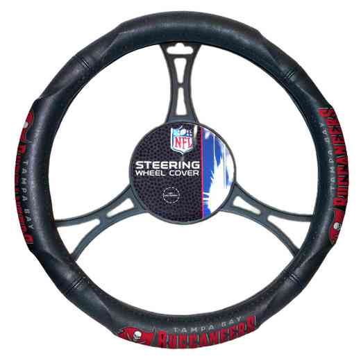 1NFL605001006RET: NW CAR STEERING WHEEL COVER, BUCS