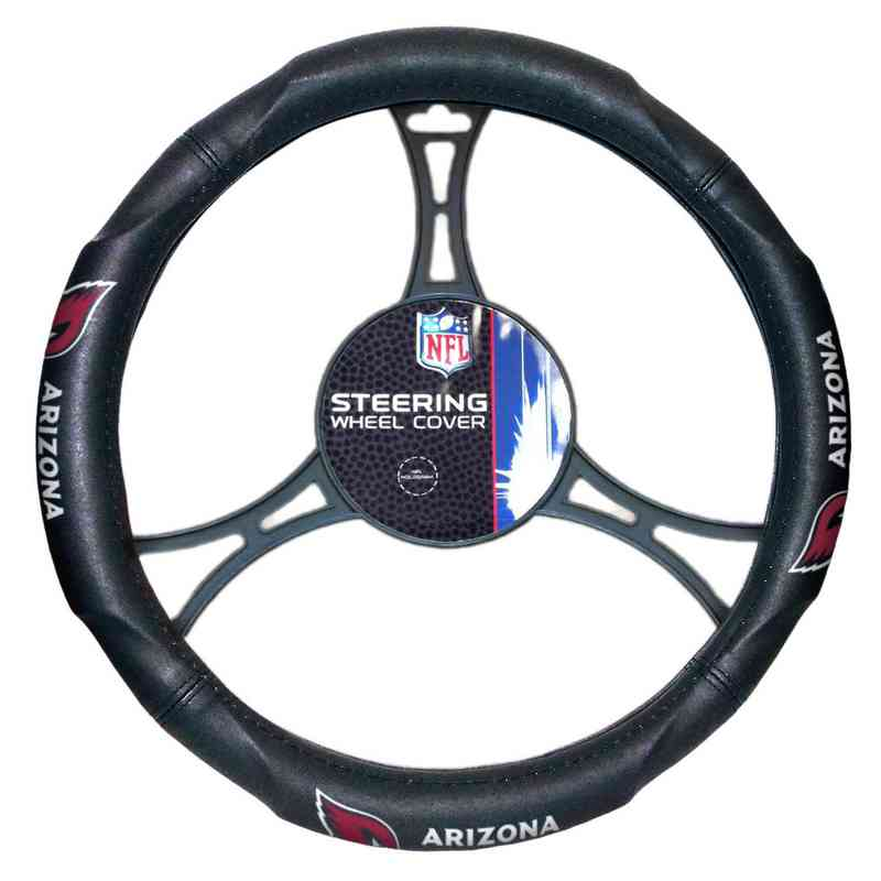 1NFL605000080RET: NW CAR STEERING WHEEL COVER, CARDINALS