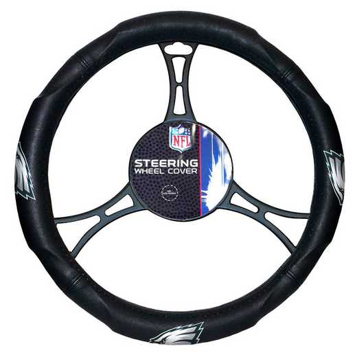 1NFL605000011RET: NW CAR STEERING WHEEL COVER, EAGLES