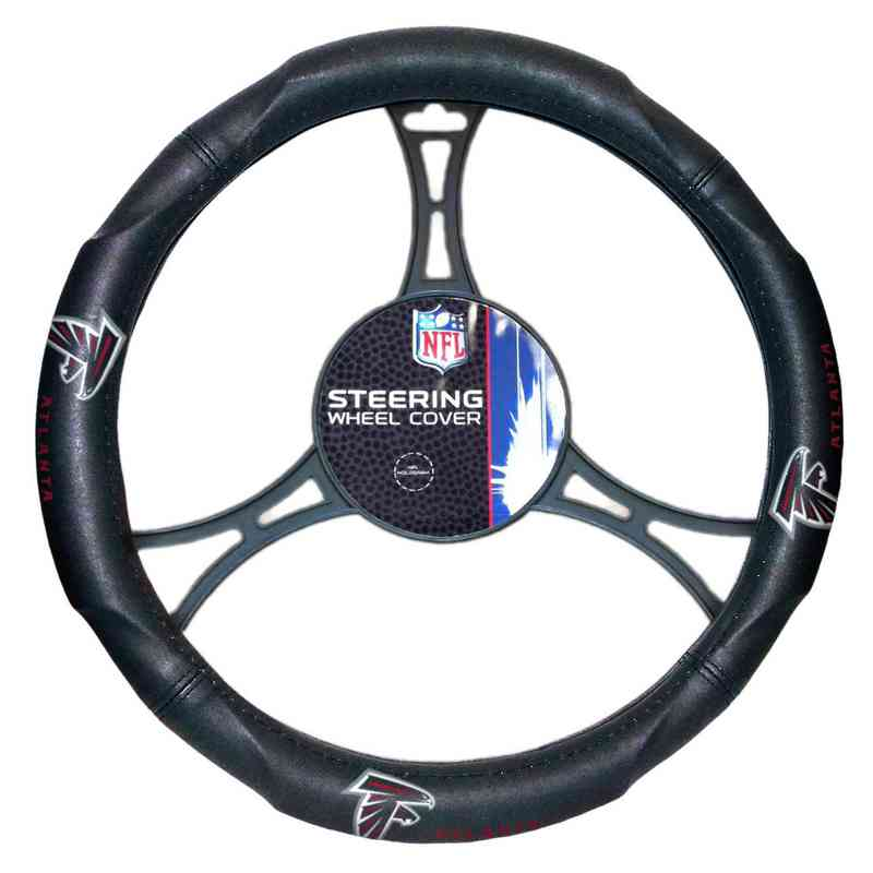 1NFL605000012RET: NW CAR STEERING WHEEL COVER, FALCONS
