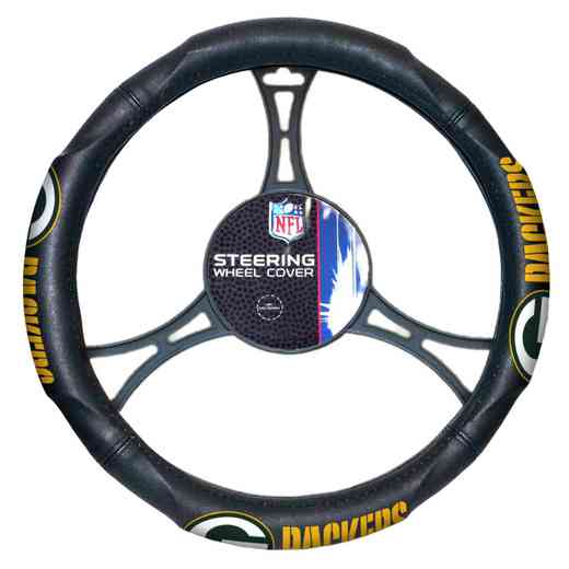 1NFL605000017RET: NW CAR STEERING WHEEL COVER, PACKERS