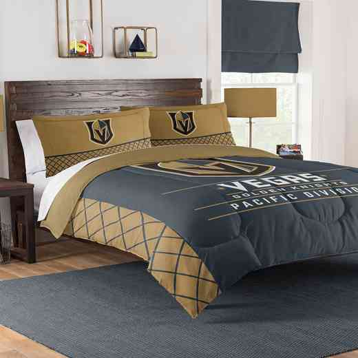 1NHL849000029RET: NW NHL F/Q COMFORTER SET, GOLDEN KNIGHTS