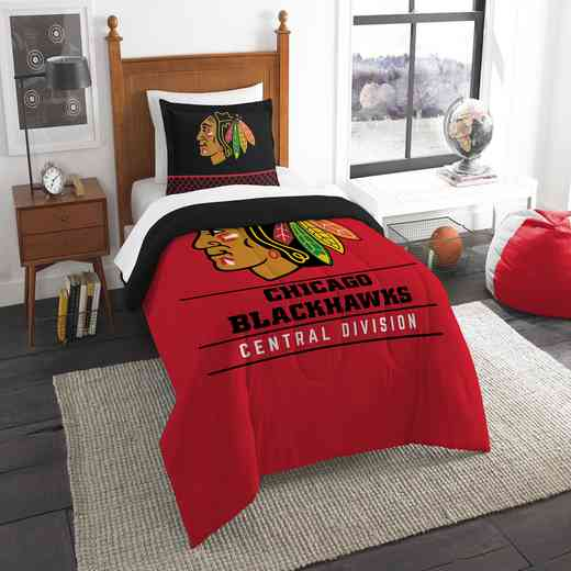 1NHL862010004RET: NW NHL TWIN COMFORTER SET, BLACKHAWKS