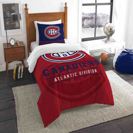 1NHL862010012RET: NW NHL TWIN COMFORTER SET, CANADIANS