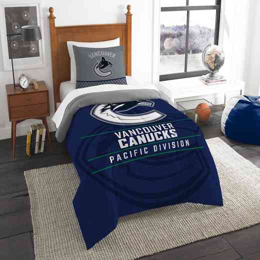 1NHL862010024RET: NW NHL TWIN COMFORTER SET, CANUCKS