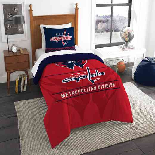1NHL862010025RET: NW NHL TWIN COMFORTER SET, CAPITALS